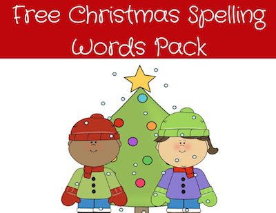 Christmas Spelling Words.Christmas Spelling Words Pack