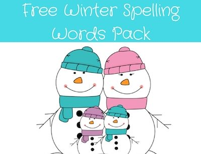 Christmas Spelling Words.Winter Spelling Words Pack Little Pink Casa